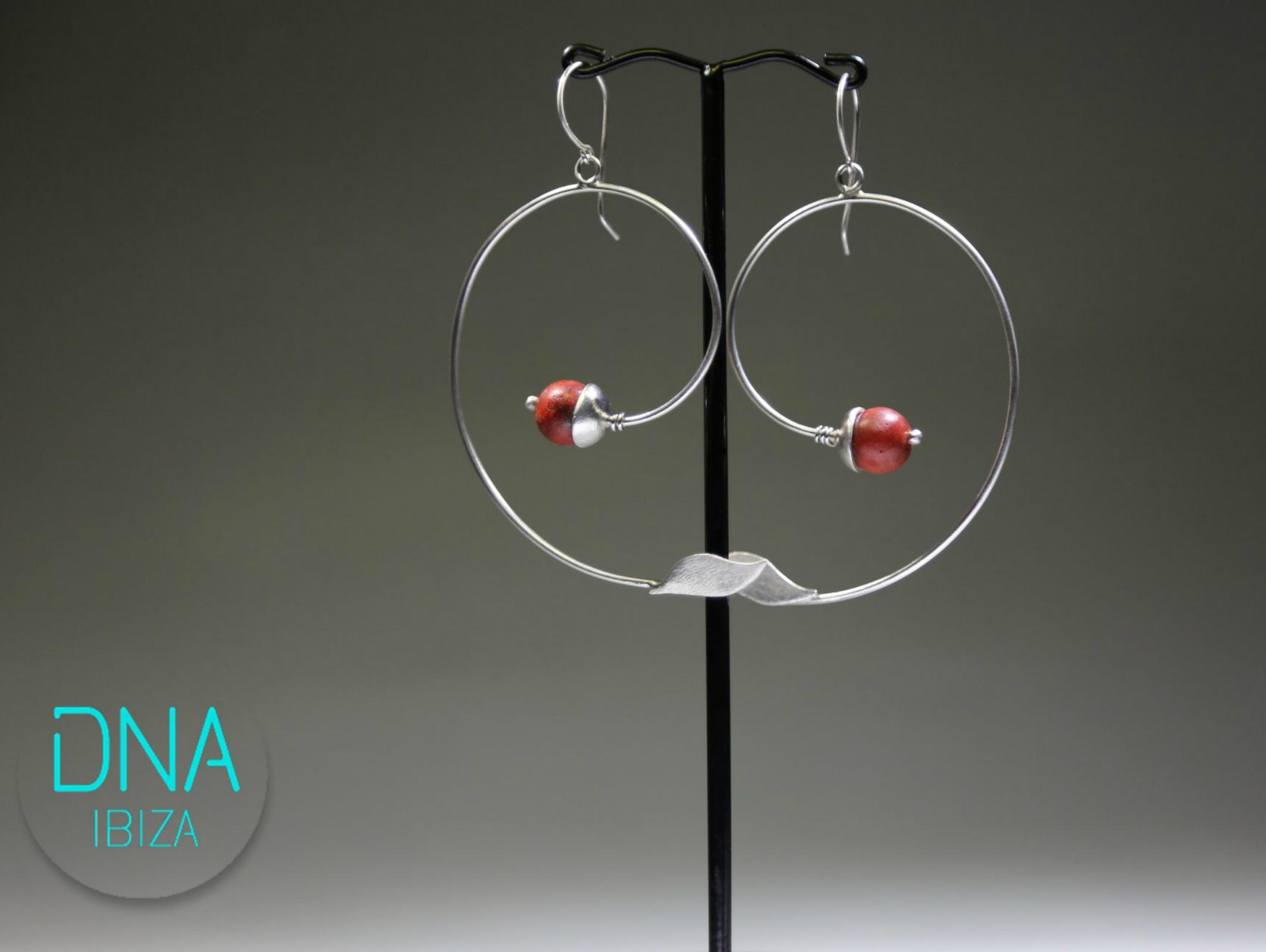Handmade Silver Earrings With C